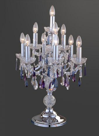Kristallen tafellamp gekleurd kristal