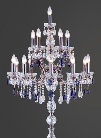 Kristallen vloerlamp 9 armen