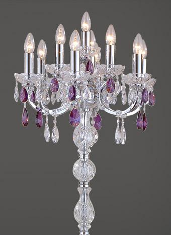 floorlamp crystal purple