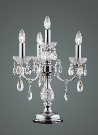 Kristallen tafellamp 3 armen
