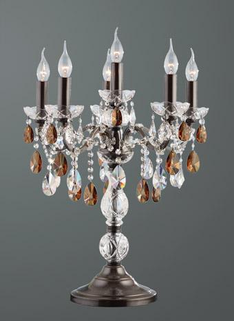 Kristallen tafellamp 6 armen