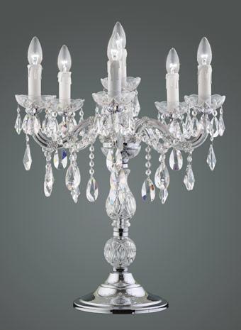 Kristallen tafellamp 5 armen