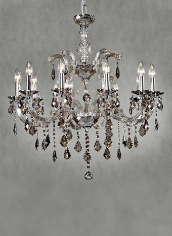 Maria Theresia Modern Kroonluchter 10 armen Champagne