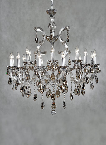 maria theresia modern kroonluchter 18 armen champagne